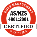 Certified ISO AS/NZA 4801:2001